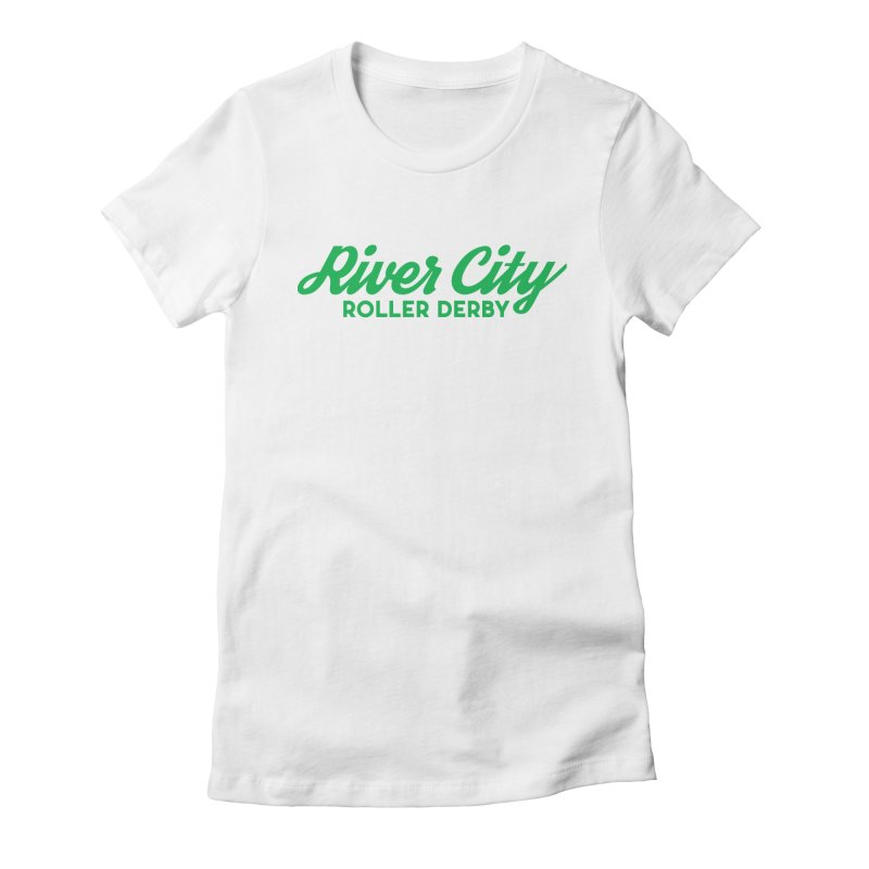River City Roller Derby Green Women's Fitted T-Shirt by River City Roller Derby's Artist Shop