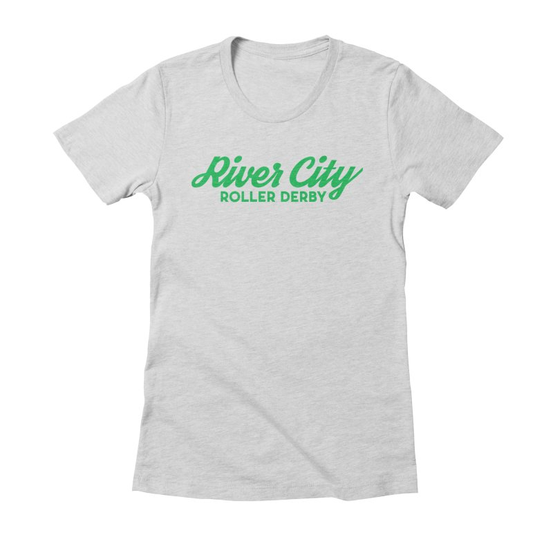 River City Roller Derby Green Women's Fitted T-Shirt by RiverCityRollerDerby's Artist Shop