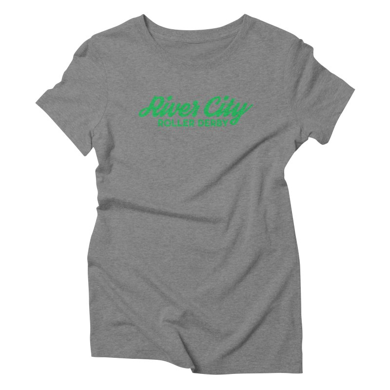 River City Roller Derby Green Women's Triblend T-Shirt by RiverCityRollerDerby's Artist Shop