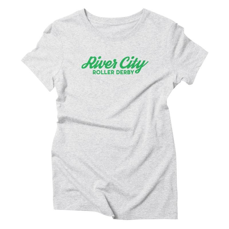 River City Roller Derby Green Women's Triblend T-Shirt by River City Roller Derby's Artist Shop