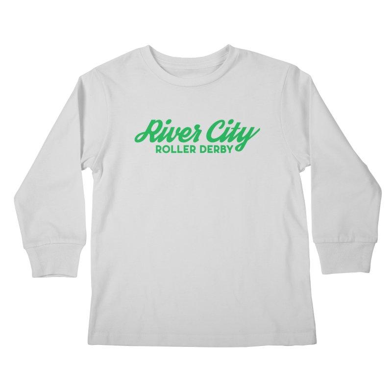 River City Roller Derby Green Kids Longsleeve T-Shirt by River City Roller Derby's Artist Shop