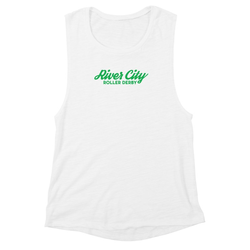 River City Roller Derby Green Women's Muscle Tank by River City Roller Derby's Artist Shop