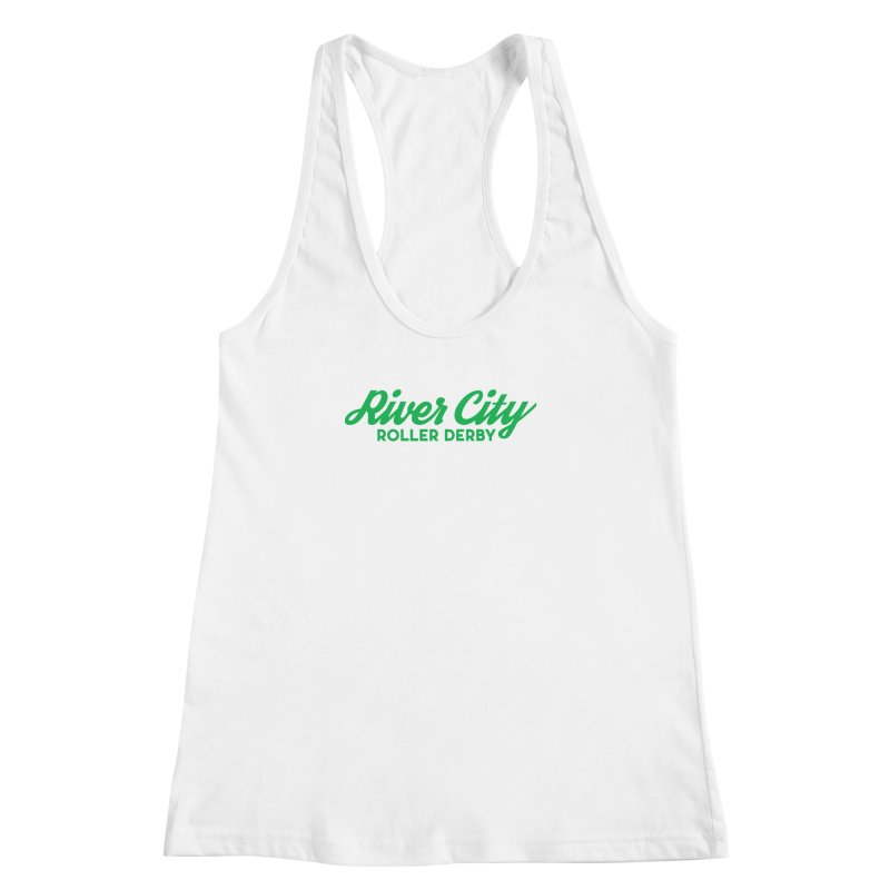 River City Roller Derby Green Women's Racerback Tank by River City Roller Derby's Artist Shop