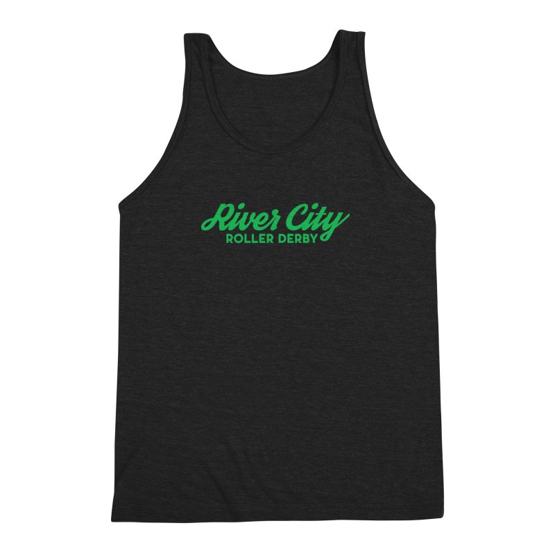 River City Roller Derby Green Men's Triblend Tank by RiverCityRollerDerby's Artist Shop