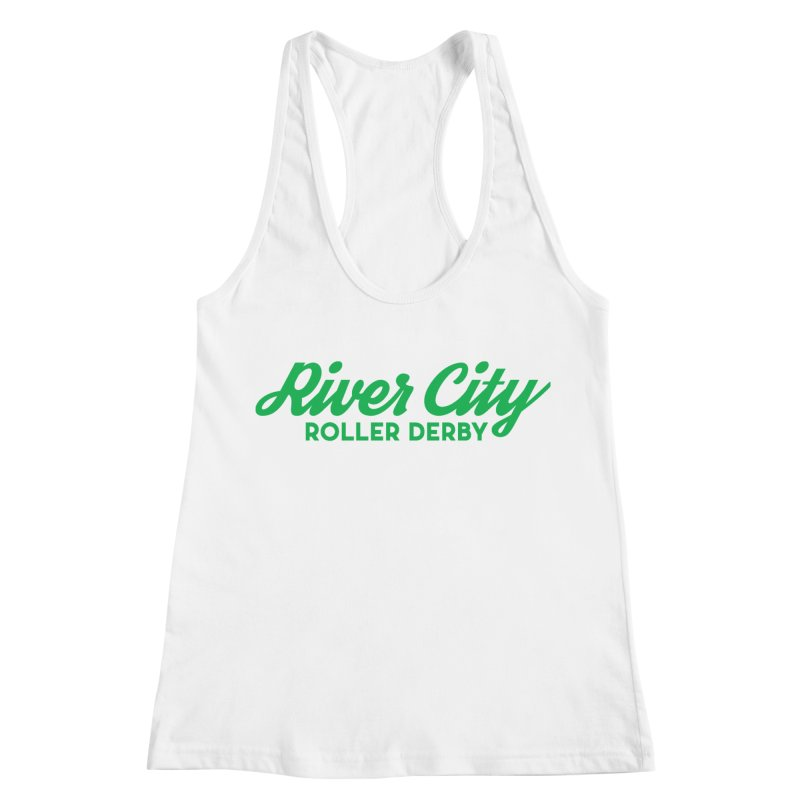 River City Roller Derby Green Women's Racerback Tank by River City Roller Derby's Artist Shop