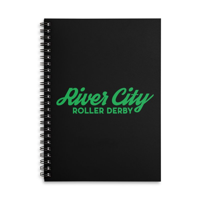 River City Roller Derby Green Accessories Lined Spiral Notebook by River City Roller Derby's Artist Shop
