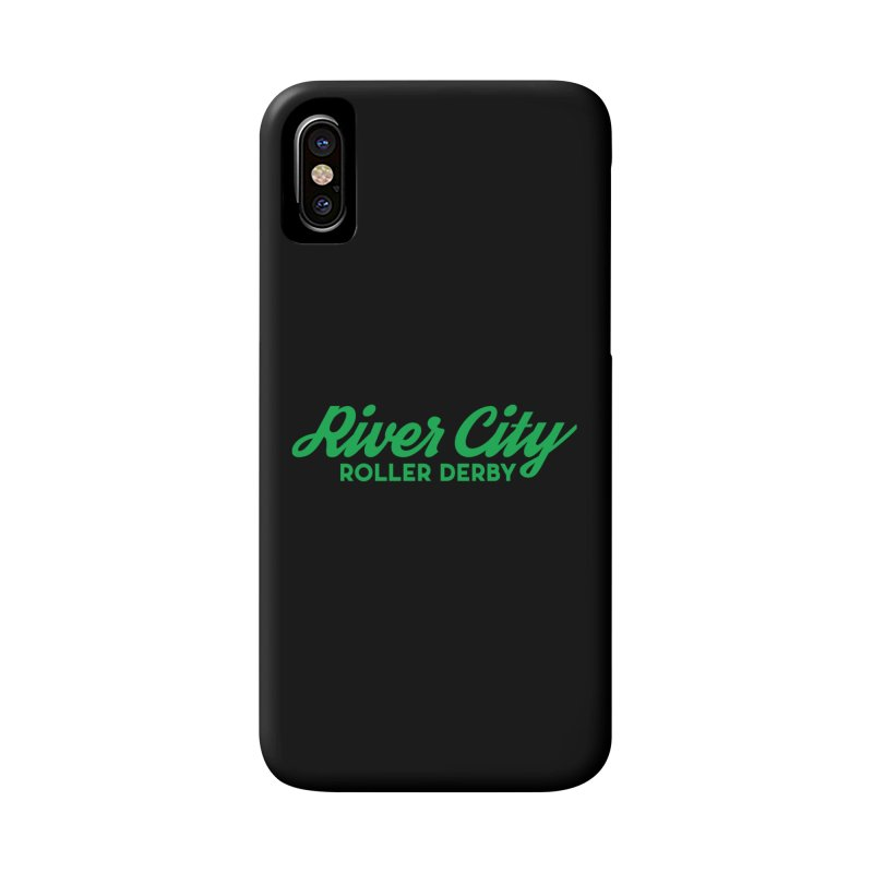 River City Roller Derby Green Accessories Phone Case by RiverCityRollerDerby's Artist Shop