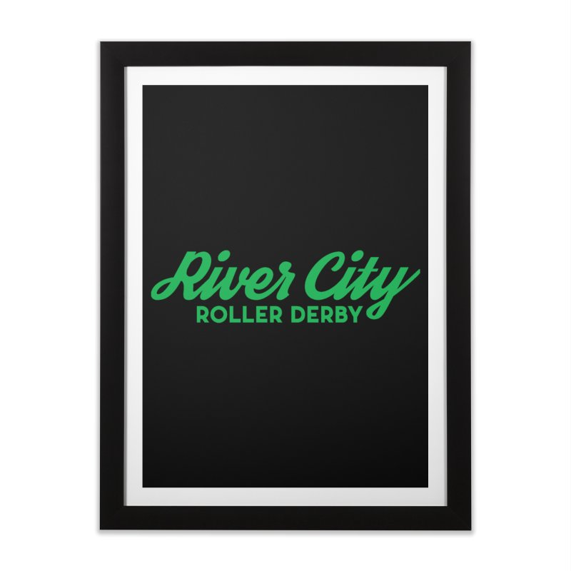 River City Roller Derby Green Home Framed Fine Art Print by RiverCityRollerDerby's Artist Shop