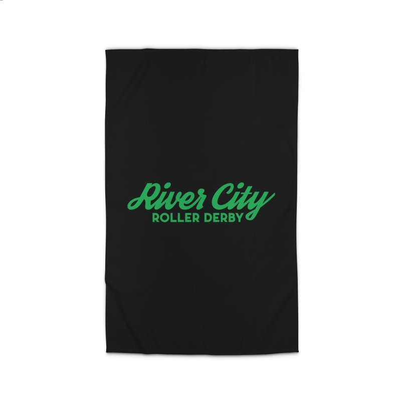 River City Roller Derby Green Home Rug by River City Roller Derby's Artist Shop
