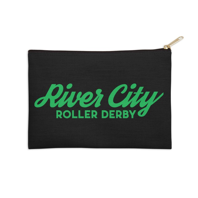River City Roller Derby Green Accessories Zip Pouch by River City Roller Derby's Artist Shop