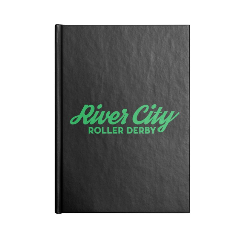 River City Roller Derby Green Accessories Lined Journal Notebook by River City Roller Derby's Artist Shop