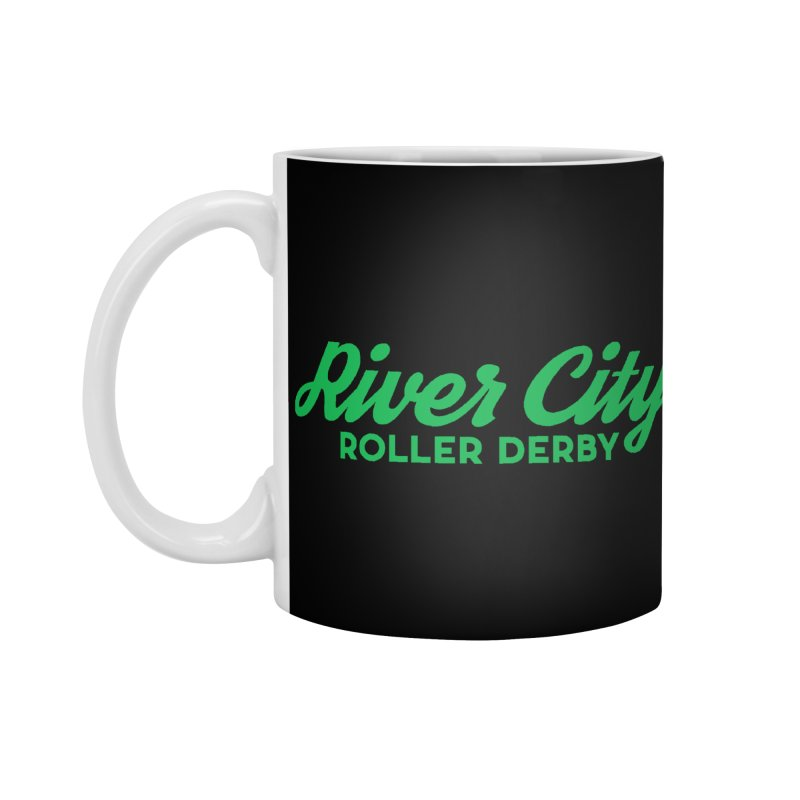River City Roller Derby Green Accessories Mug by RiverCityRollerDerby's Artist Shop