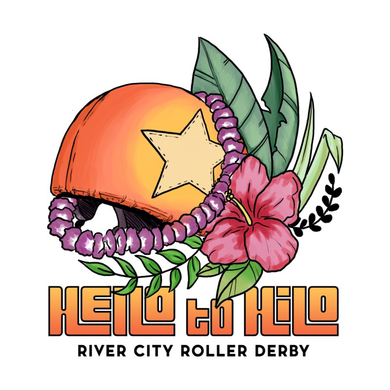 Hello to Hilo Accessories Sticker by River City Roller Derby's Artist Shop