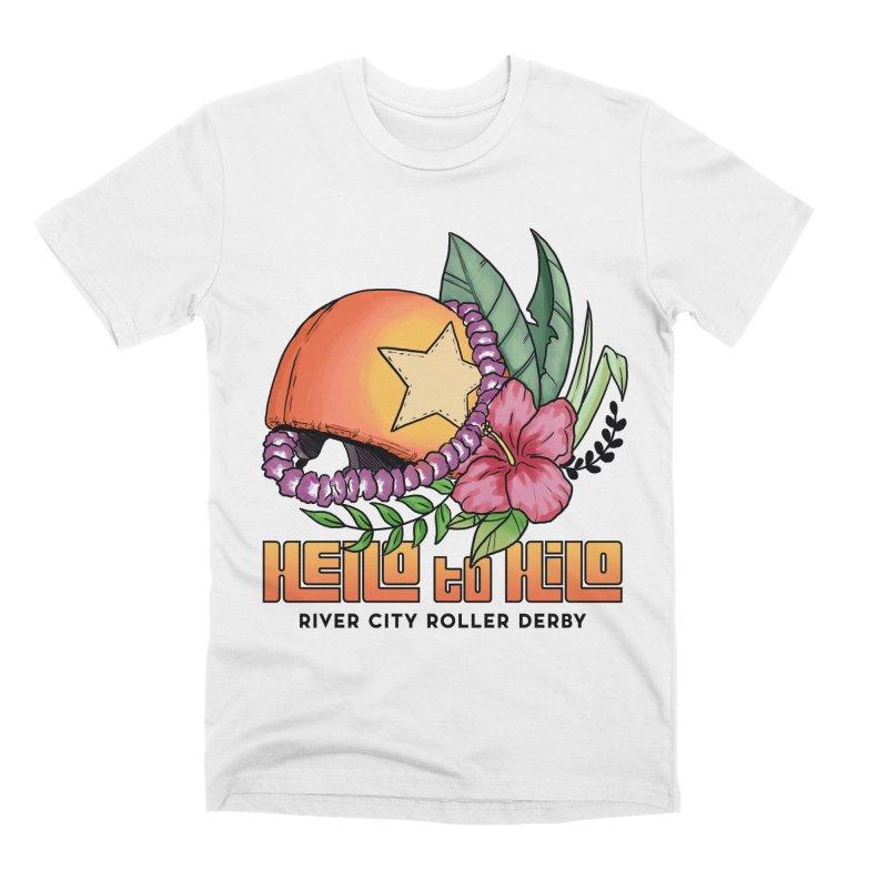 Hello to Hilo Men's Premium T-Shirt by River City Roller Derby's Artist Shop