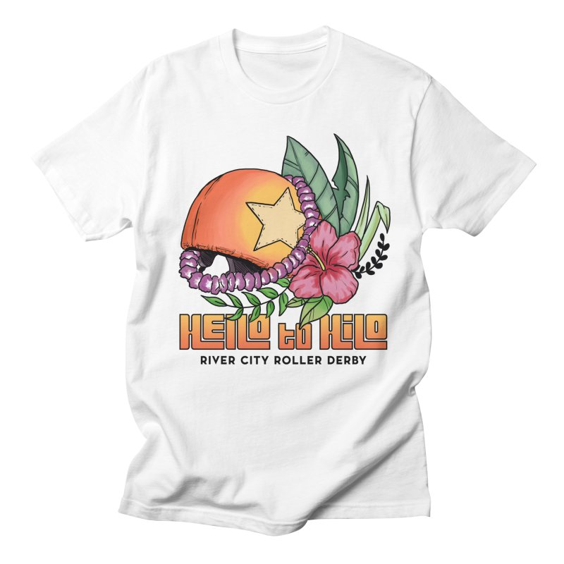 Hello to Hilo Men's Regular T-Shirt by River City Roller Derby's Artist Shop