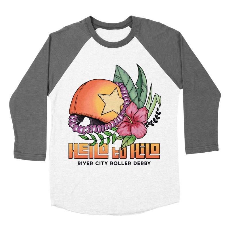 Hello to Hilo Women's Baseball Triblend Longsleeve T-Shirt by River City Roller Derby's Artist Shop