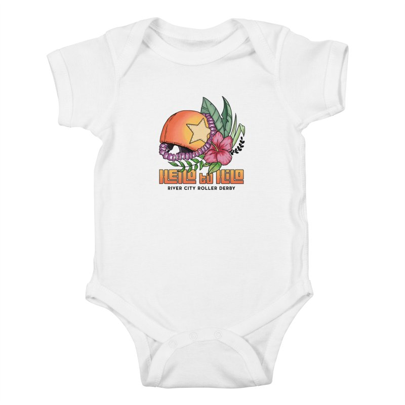 Hello to Hilo Kids Baby Bodysuit by River City Roller Derby's Artist Shop