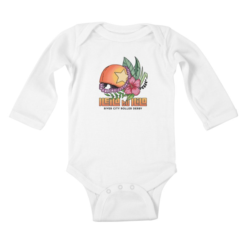 Hello to Hilo Kids Baby Longsleeve Bodysuit by River City Roller Derby's Artist Shop