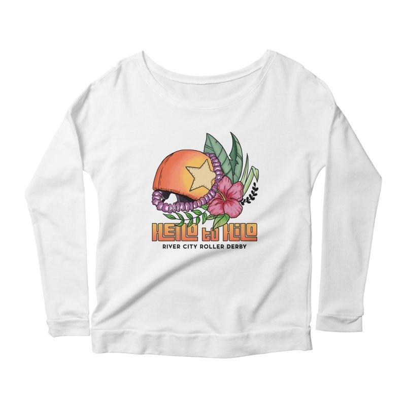 Hello to Hilo Women's Scoop Neck Longsleeve T-Shirt by River City Roller Derby's Artist Shop