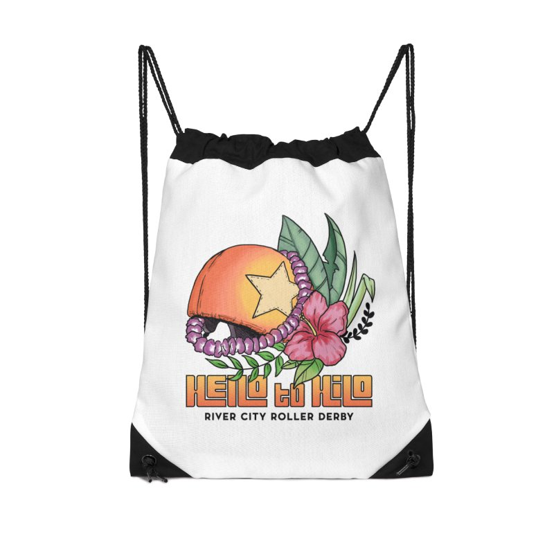 Hello to Hilo Accessories Drawstring Bag Bag by River City Roller Derby's Artist Shop