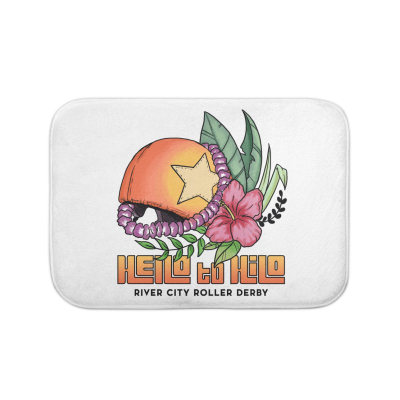 Hello to Hilo Home Bath Mat by River City Roller Derby's Artist Shop