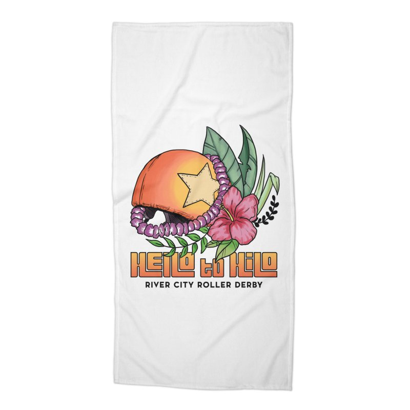 Hello to Hilo Accessories Beach Towel by River City Roller Derby's Artist Shop