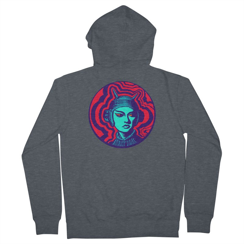 Kaiju Girl Women's French Terry Zip-Up Hoody by RobBoyleArt's Artist Shop