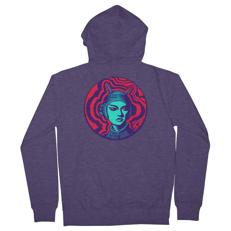 Kaiju Girl Men's French Terry Zip-Up Hoody by RobBoyleArt's Artist Shop