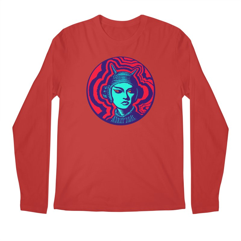 Kaiju Girl Men's Regular Longsleeve T-Shirt by RobBoyleArt's Artist Shop