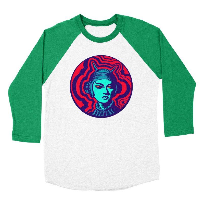 Kaiju Girl Women's Baseball Triblend Longsleeve T-Shirt by RobBoyleArt's Artist Shop