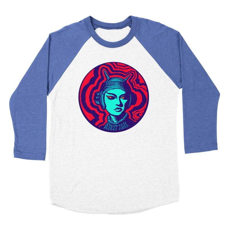 Kaiju Girl Men's Baseball Triblend Longsleeve T-Shirt by RobBoyleArt's Artist Shop