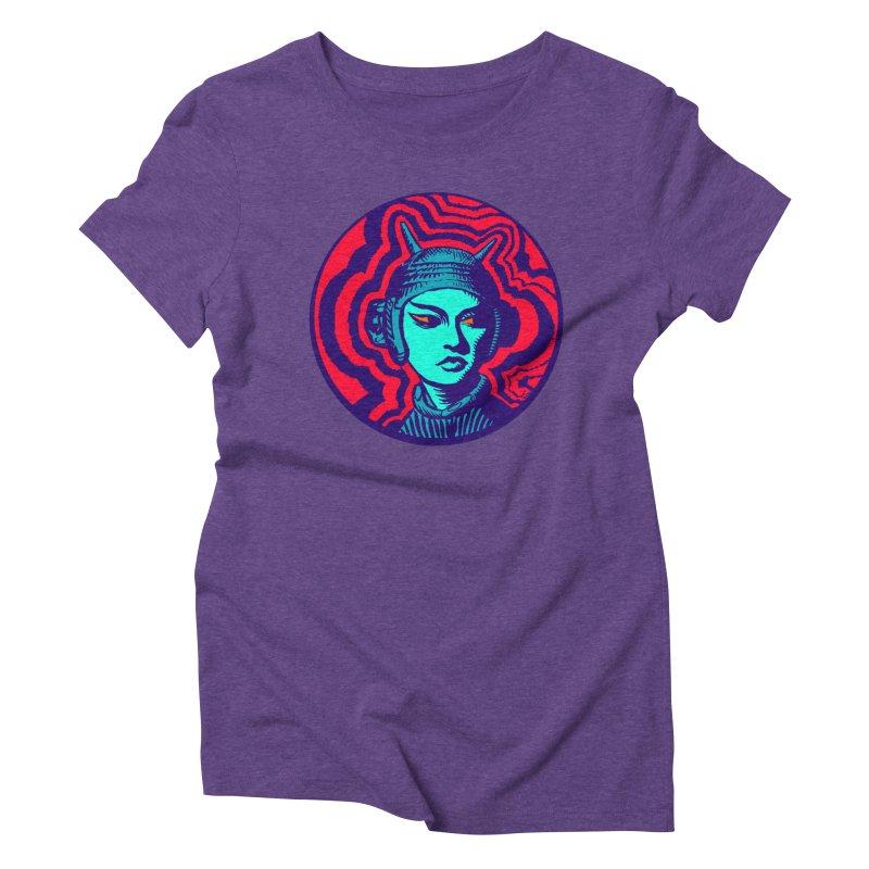 Kaiju Girl Women's Triblend T-Shirt by RobBoyleArt's Artist Shop