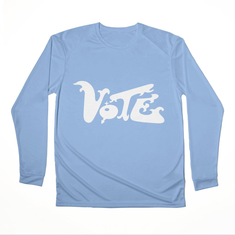 Vote (white letters) Men's Longsleeve T-Shirt by RobBoyleArt's Artist Shop