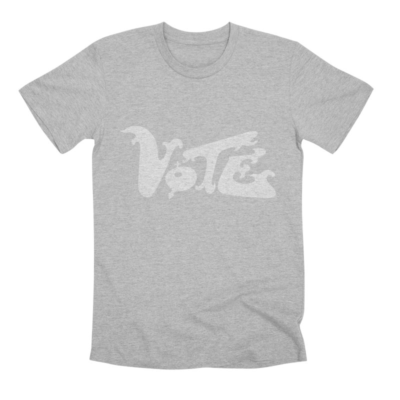 Vote (white letters) Men's T-Shirt by RobBoyleArt's Artist Shop