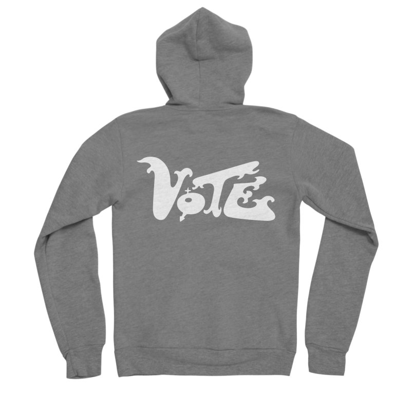 Vote (white letters) Men's Zip-Up Hoody by RobBoyleArt's Artist Shop