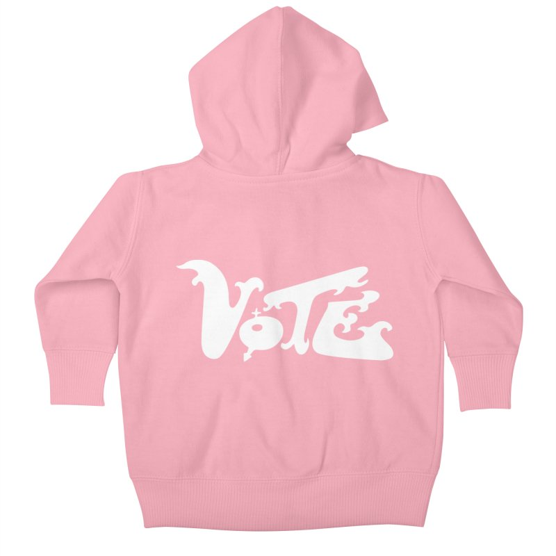 Vote (white letters) Kids Baby Zip-Up Hoody by RobBoyleArt's Artist Shop