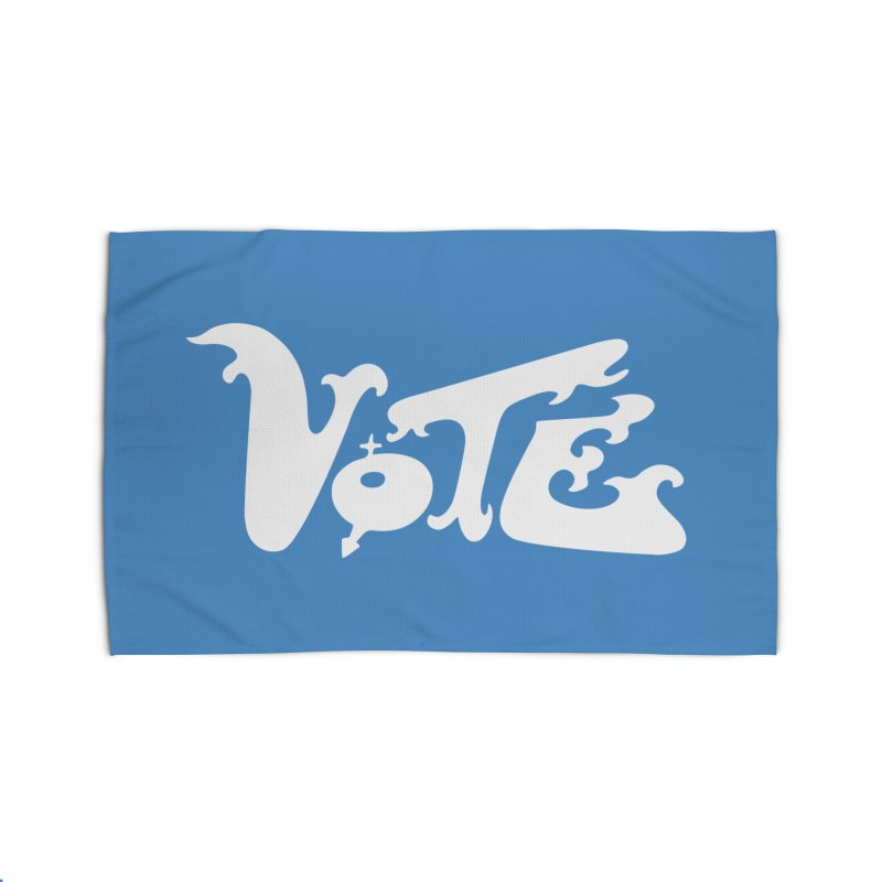 Vote (white letters) Home Rug by RobBoyleArt's Artist Shop