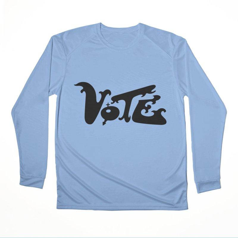Vote Black Women's Longsleeve T-Shirt by RobBoyleArt's Artist Shop