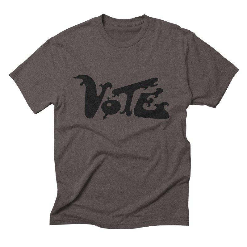 Vote Black Men's T-Shirt by RobBoyleArt's Artist Shop