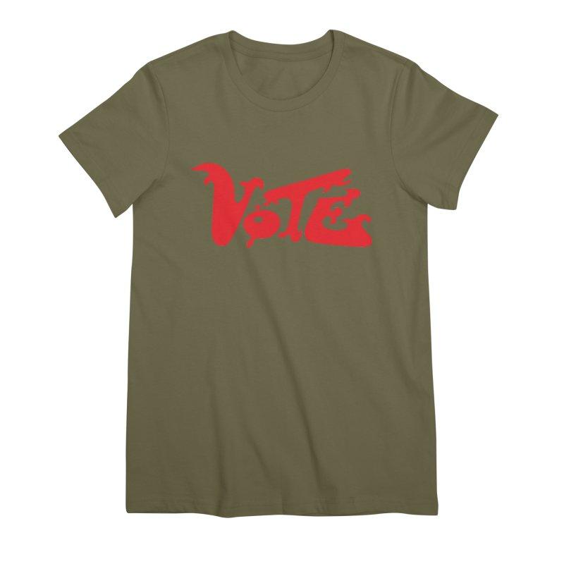 Vote Groovy (RED) Women's Premium T-Shirt by RobBoyleArt's Artist Shop