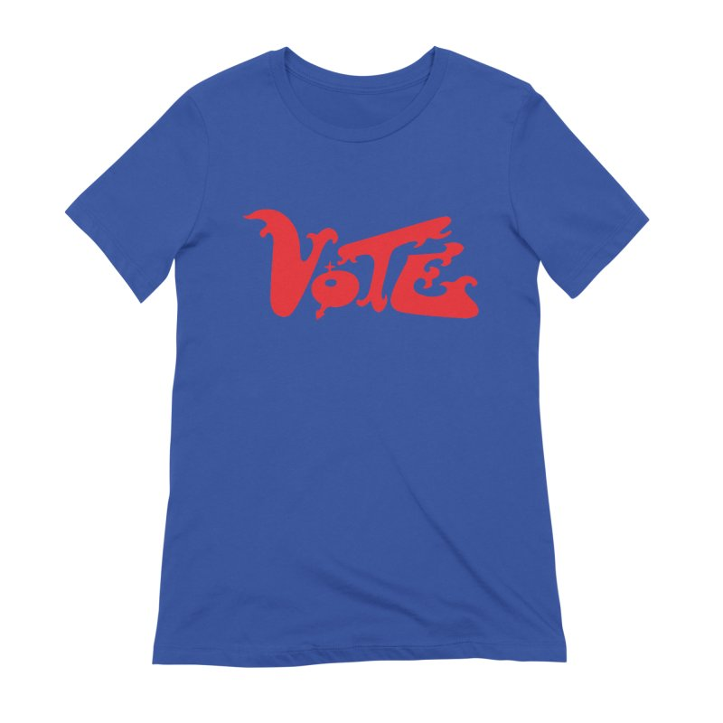 Vote Groovy (RED) Women's Extra Soft T-Shirt by RobBoyleArt's Artist Shop
