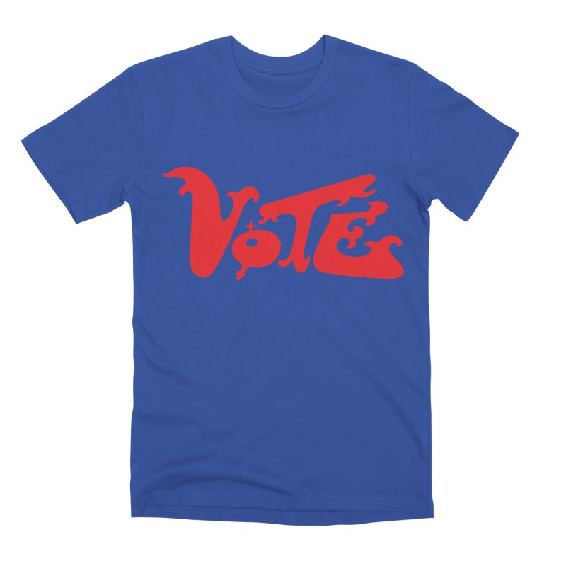 Vote Groovy (RED) Men's Premium T-Shirt by RobBoyleArt's Artist Shop