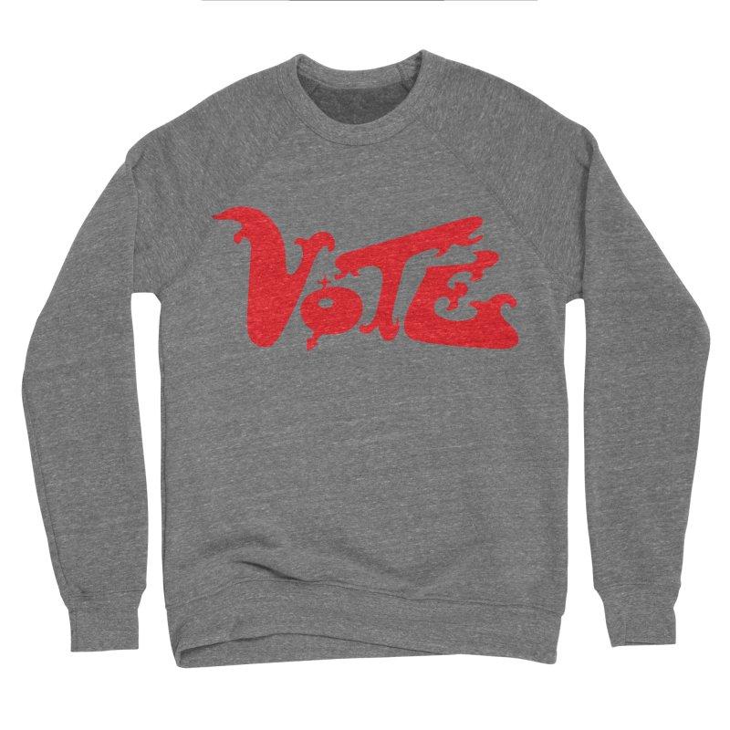 Vote Groovy (RED) Men's Sponge Fleece Sweatshirt by RobBoyleArt's Artist Shop