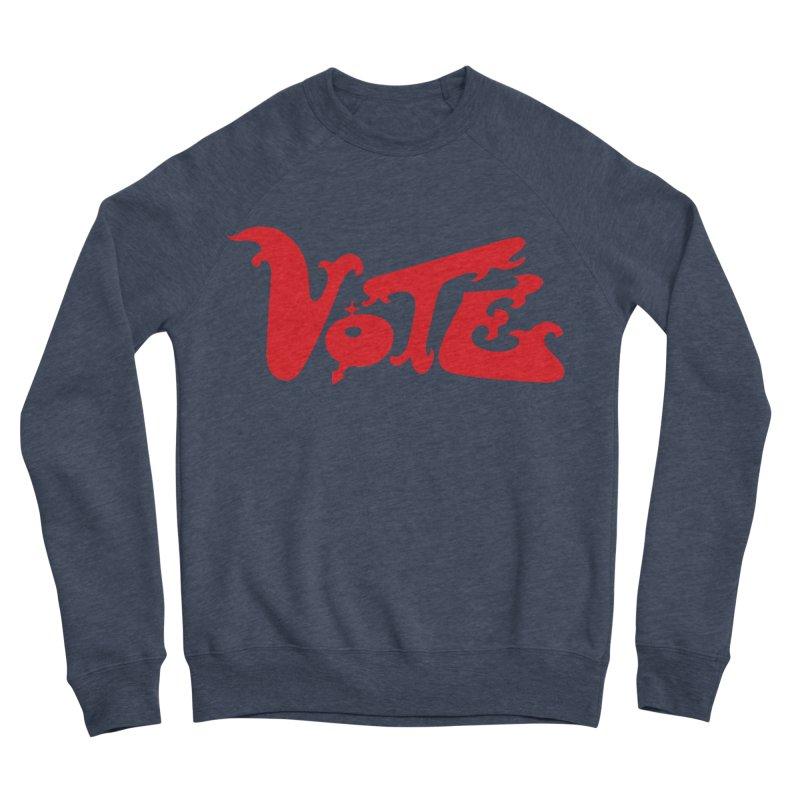Vote Groovy (RED) Women's Sponge Fleece Sweatshirt by RobBoyleArt's Artist Shop