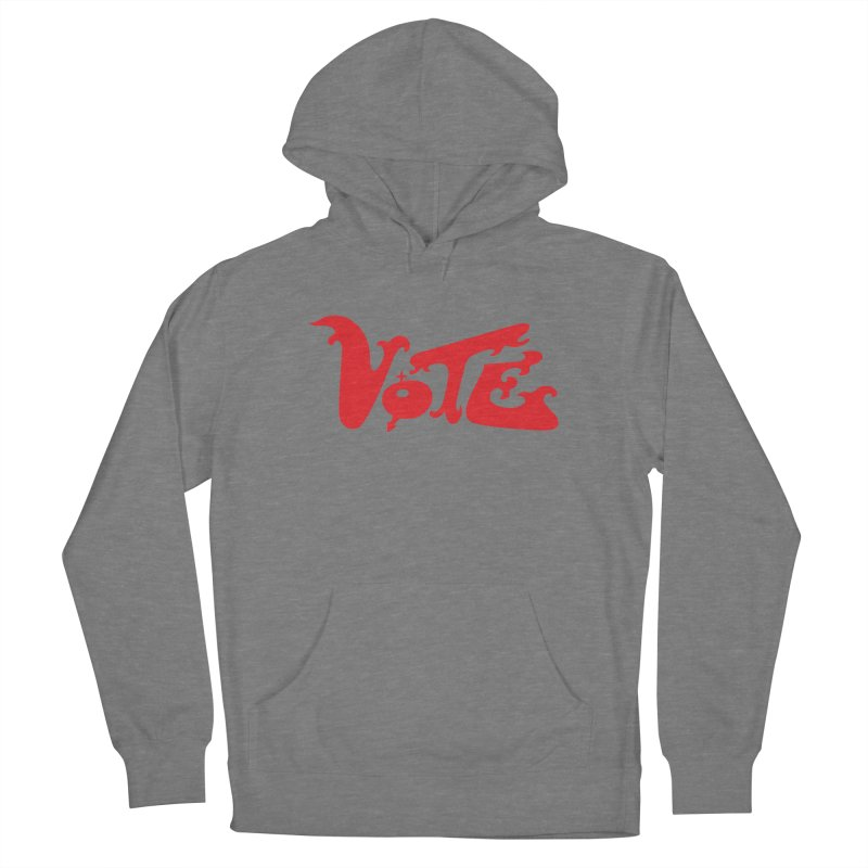 Vote Groovy (RED) Women's French Terry Pullover Hoody by RobBoyleArt's Artist Shop