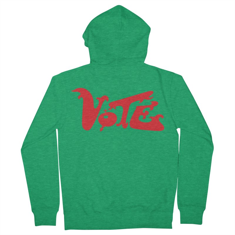 Vote Groovy (RED) Men's Zip-Up Hoody by RobBoyleArt's Artist Shop