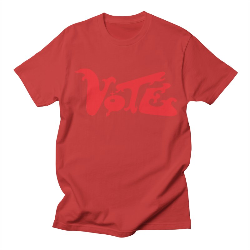Vote Groovy (RED) Men's Regular T-Shirt by RobBoyleArt's Artist Shop