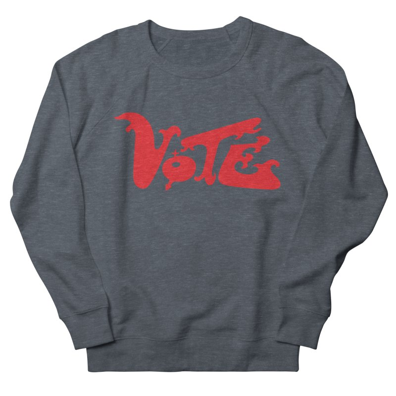 Vote Groovy (RED) Men's French Terry Sweatshirt by RobBoyleArt's Artist Shop