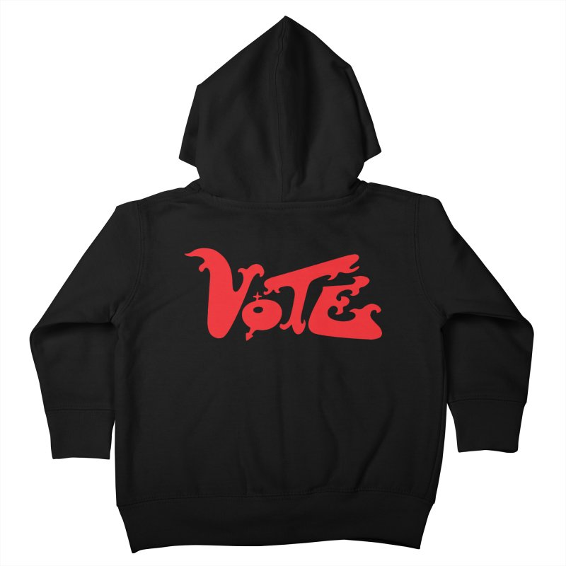 Vote Groovy (RED) Kids Toddler Zip-Up Hoody by RobBoyleArt's Artist Shop