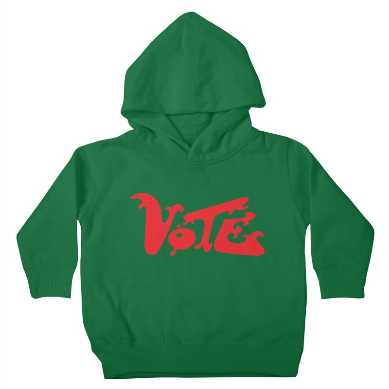 Vote Groovy (RED) Kids Toddler Pullover Hoody by RobBoyleArt's Artist Shop